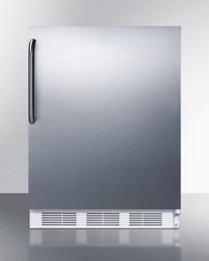 Summit FF7CSSADA Commercial 5.5 Cu. Ft. Stainless Steel Undercounter Built-In Compact Refrigerator