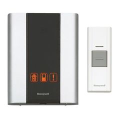 Modern Premium Portable Wireless Door Bell Chime w/ Flash Notify + Push Button #Honeywell