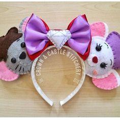 The Rescuers Bernard and Bianca Felt Plush Mickey Ears Mini Mouse Ears, Diy Mickey Mouse Ears, Diy Disney Ears, Disney Mickey Ears, Walt Disney, Cute Disney, Disney Headbands, Mickey Mouse Ears Headband, Ear Headbands