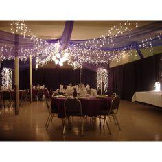 decoration salle mariage avec tenture