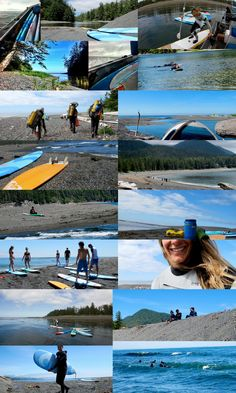 suptofinoblog:    Outward Bound Leadership Group hikers take the beach trail to another level with a break at Beano Creek for a surf camp with Tofino Paddle Surf, Bruhwiler Surf School and Tatchu Adventures [www.tatchuadventures.com]