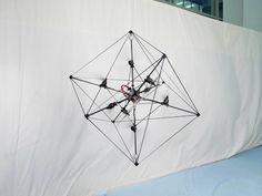 Ce drole de cube est un drone à 8 rotors