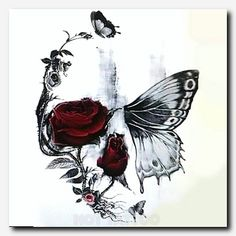 This skull butterfly and rose tattoo is a strong .- Dieses Schädel Schmetterling und Rose Tattoo ist ein starkes Symbol, das einen … This skull butterfly and rose tattoo is a strong symbol that leaves a strong impression. Foot Tattoos, Forearm Tattoos, Body Art Tattoos, Tattoo Drawings, Sketch Tattoo, Skull Drawings, Tatoos, Female Forearm Tattoo, Leg Sleeve Tattoos