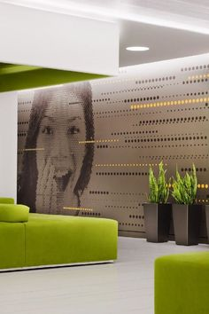 Office Interior Wall Design Ideas With Creative Office Wall Art For Cool Office Interior Ideas Creative Office, Stylish Office, Cool Office, Green Office, Creative Decor, Creative Studio, Creative Ideas, Interior Design Software, Office Interior Design