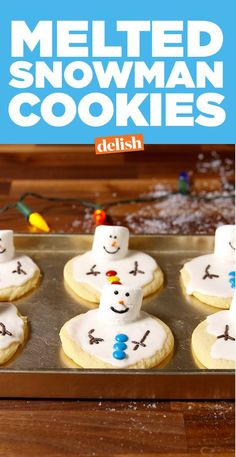Melted Snowman CookiesDelish