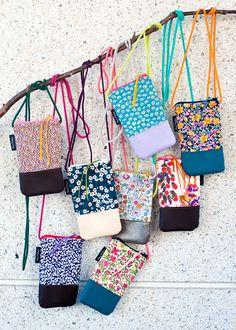 novamelina  www.novamelina.com International shipping!!  #liberty #of #london #fabric #handmade #unique #phone #bags