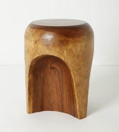 Solid one piece wooden Cavern Stool
