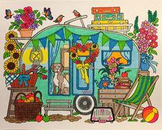 ColorIt Blissful Scenes Colorist: Frances Patricia Martini #adultcoloring #coloringforadults #adultcoloringpages #blissfulscenes