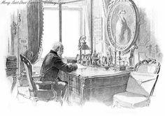 Franz Joseph work study next to the Sissi portrait by Winterhalter