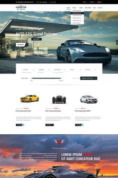 Auto Market Website Template Big Screenshot