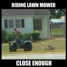 Riding lawnmower...