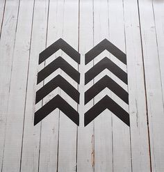 Vinyl Wall Decal Chevron Arrows Tribal by Msapple on Etsy