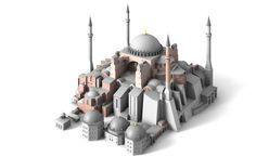 The Church of the Holy Wisdom - Hagia Sophia - Constantinople, Byzantine Empire - up until it was the largest cathedral in the world - model Hagia Sophia Istanbul, Sainte Sophie, Ottoman Turks, Prusa I3, Cathedral Church, Christian Church, Historical Architecture, Ottoman Empire, Byzantine