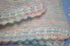Crafting for Charity: Ribbon Edged Preemie Blanket