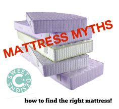 This guide for how to buy a mattress will help you get rid of common mattress buying myths, help find the best mattress for a bad back and other problems!
