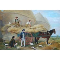 English White Terriers on Harvest Duty