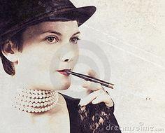 Vintage portrait by Olga Olejnikova, via Dreamstime