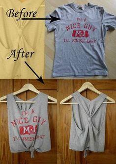 Old T shirt DIY Tanktop upcycle
