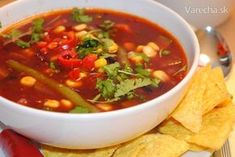Mexická zeleninová polievka