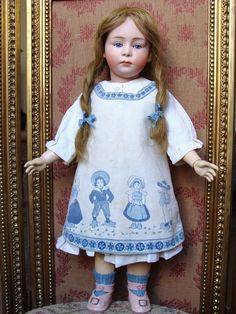 Rare and wonderful antique Pouty HEUBACH Child. from les-fees-du-temps on Ruby Lane