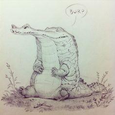 «A croc for #sketchtuesdaysthlm» крокодил