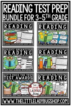 You will love this Reading Test Prep Bundle for your students in Third Grade, Fourth Grade, and Fifth Grade! All of my BEST Selling Reading Test Prep Materials have been combined into a bundle! This reading comprehension test prep 3rd grade, 4th grade and 5th grade. #readingtestprep3rdgrade #readingtestprep4thgrade #staarreadingstrategies