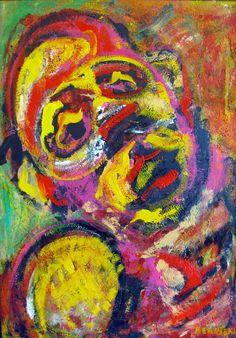 "Saatchi Online Artist: Shant Beudjekian; Acrylic, 2012, Painting ""Expressive Face """