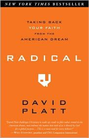 Radical: Taking Back Your Faith from the American Dream by David Platt A book I need to re-read a couple times a year.