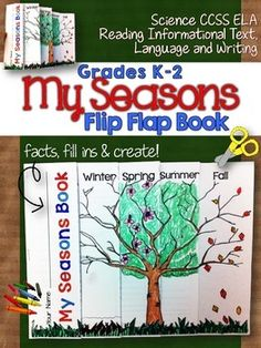 My Seasons Flip Flap Book. Once assembled your students will love that the cover will actually look like a tree through the seasons of the year! Grades K-2 ($)
