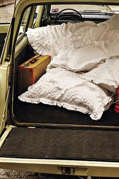 road trip rules: one suitcase (for the both of you), pillows (blankies are optional), and a map.
