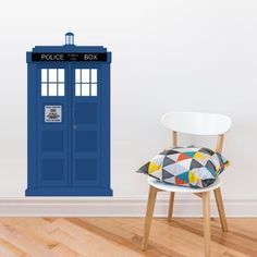 Full Color Wall Decal Mural Sticker Decor Art Doctor Who Tardis Police Box Gift Col643 *** Details can be found by clicking on the image.