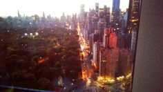 New york s'eveille , Vue chambre Hotel MANDARIN