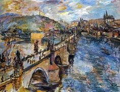 "fckyeaharthistory: "" Oskar Kokoschka - Charles Bridge, 1934. Oil on canvas """