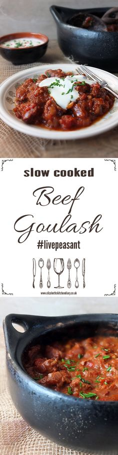 A simple caraway and smoked paprika flavoured slow cooked beef dish. 15 minutes prep and it can tenderize even the cheapest cuts of beef. In collaboration with Simply Beef & Lamb and their #LivePeasant campaign.