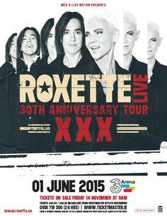 Roxette - 30th Anniversary Tour 3Arena, Dublin Monday 1 June 2015