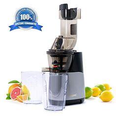 VICELEC Centrifuga per frutta e verdura in acciaio INOX con piedini antiscivolo senza BPA con bocca larga 65 mm 2 velocit/à