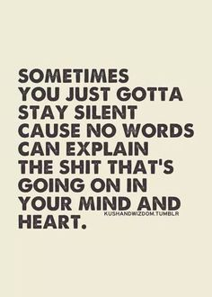 I feel like this all the time! I wish I could explain but there usually isn't a way to do so simply.