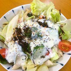 +バナナ - 16件のもぐもぐ - 温野菜と海藻で*ヨーグルトソースサラダ by karintou2525