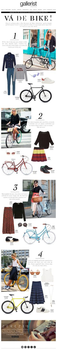 gallerist, newsletter, fashion news, cycle chic, layout