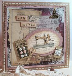 Crafty Effusions: Sew What at Fashionable Stamping Card Creator, Sewing Cards, Craftwork Cards, Shabby Chic Cards, 3d Cards, Mothers Day Cards, Decoupage, Card Maker, Card Tags