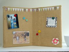 DIY Burlap Covered Pin Board DIY Burlap DIY Crafts