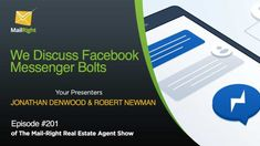 Facebook Messenger Bots for Real Estate Agents | inboundREM Real Estate Business, Real Estate Tips, Facebook Marketing, Internet Marketing, Email Signatures, Facebook Messenger, Call To Action, Estate Agents, Advertising Campaign
