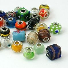 30 Mixed Lampwork Glass Beads. Starting at $5 on Tophatter.com!Euro Bracelet Supplies No.65 March 14, 8pm EDT