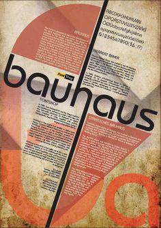 bauhaus fontshop poster