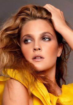 Drew Barrymore subtile make up