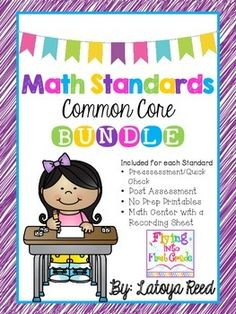This is the Ultimate Common Core Math Standards BUNDLE for first grade. This unit focuses on all of the CCSS Math standards for First grade. Math Classroom, Kindergarten Math, Teaching Math, Teaching Ideas, Preschool, Future Classroom, Teaching Resources, Classroom Ideas, Educational Websites