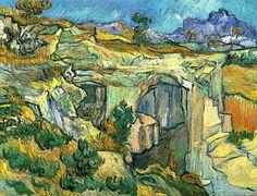 Vincent Van Gogh. Entrance to a Quarry Near Saint-Remy (1889).