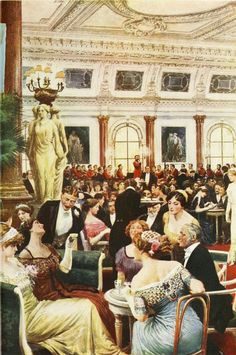 Beautifully attired patrons at the Savoy Restaurant on a Sunday evening in 1912. #Edwardians #vintage #restaurants