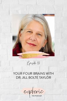 On today's episode of Euphoric The Podcast, Karolina welcomes Dr. Jill Bolte Taylor. A neuro-anatomist, Dr. Jill breaks down the four different characters that make up our brain. Tune in as she talks about her new book, Whole Brain Living, and gives us an illuminating understanding of the functions and characters of our brains--that she learned firsthand from experiencing a stroke--and how we can find more peace and happiness today. Live For Yourself, Finding Yourself, Live In The Present, Change Your Mindset, On Today, Learning To Be, Finding Joy, Self Development, Bestselling Author