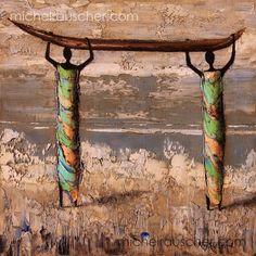 Michel RAUSCHER   Peintures - Huile sur toile - Sans titre